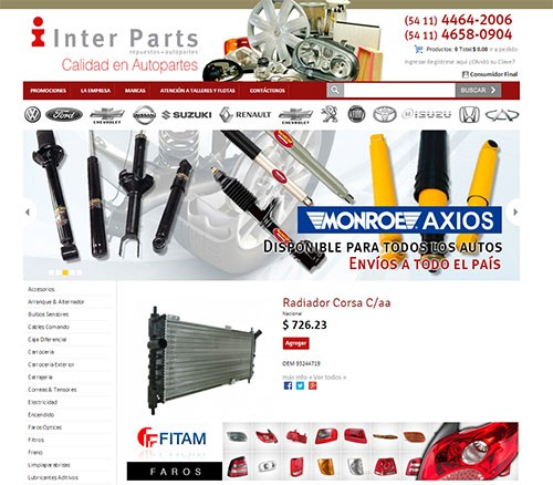 Repuestos InterParts - Catalogo